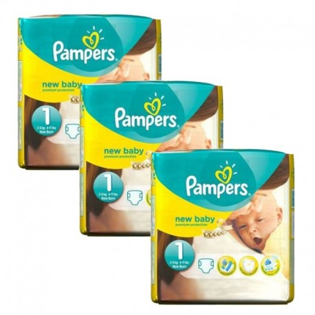 Pampers - Pack jumeaux 504 Couches Premium Protection taille 1 sur Le roi de la couche