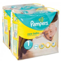 Pampers - Pack jumeaux 560 Couches Premium Protection taille 1