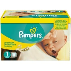 Pampers - Pack jumeaux 616 Couches Premium Protection taille 1