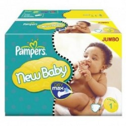 Pampers - Pack jumeaux 672 Couches Premium Protection taille 1