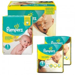 Pampers - Pack jumeaux 896 Couches Premium Protection taille 1