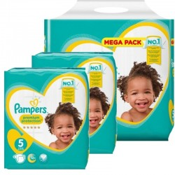 Pampers - Giga pack 272 Couches Premium Protection taille 5