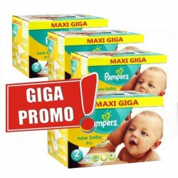 Pampers - Giga pack 204 Couches New Baby Dry taille 2 sur Le roi de la couche