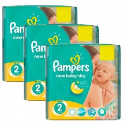 Pampers - Maxi giga pack 340 Couches New Baby Dry taille 2 sur Le roi de la couche