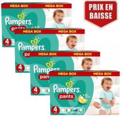 Pampers - Mega pack 124 Couches Baby Dry Pants taille 4 sur Le roi de la couche