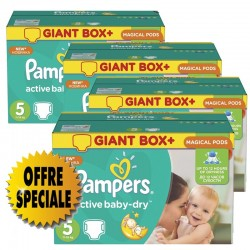 Pampers - Giga pack 294 Couches Active Baby Dry taille 5