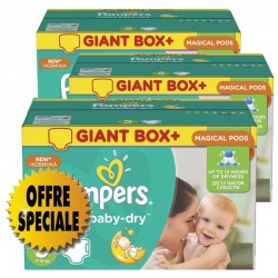 Pampers - Maxi giga pack 336 Couches Active Baby Dry taille 5