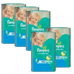 Pampers - Maxi giga pack 378 Couches Active Baby Dry taille 5