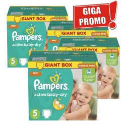 Pampers - Maxi mega pack 462 Couches Active Baby Dry taille 5