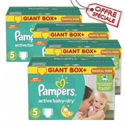 Pampers - Pack jumeaux 546 Couches Active Baby Dry taille 5