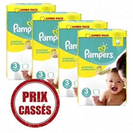 Pampers - Giga pack 216 Couches Premium Protection taille 4 sur Le roi de la couche