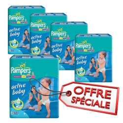 Pampers - Maxi mega pack 432 Couches Active Baby Dry taille 6