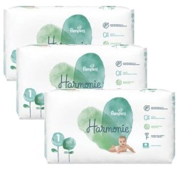 Pampers - Giga pack 204 Couches Harmonie taille 1