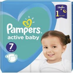 Pampers - Pack 44 Couches Active Baby Dry taille 7 sur Le roi de la couche