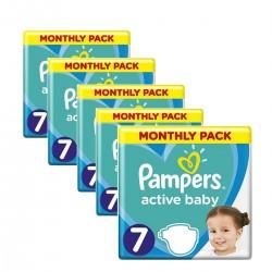 Pampers - Pack 88 Couches Active Baby Dry taille 7 sur Le roi de la couche