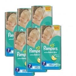Pampers - Mega pack 176 Couches Active Baby Dry taille 7 sur Le roi de la couche