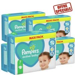 Pampers - Pack 66 Couches Active Baby Dry taille 7 sur Le roi de la couche