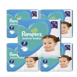 Pampers - Pack 99 Couches Active Baby Dry taille 7 sur Le roi de la couche