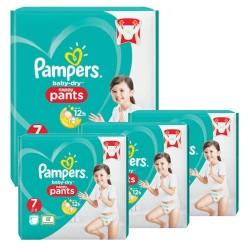 Pampers - Mega pack 120 Couches Baby Dry Pants taille 7 sur Le roi de la couche