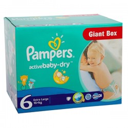 Giga Pack 144 couches Pampers Active Baby Dry
