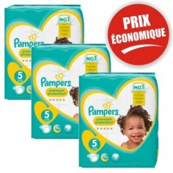 Pampers - Mega pack 140 Couches Premium Protection taille 5