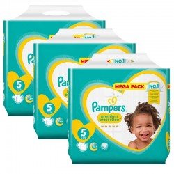 Pampers - Mega pack 160 Couches Premium Protection taille 5