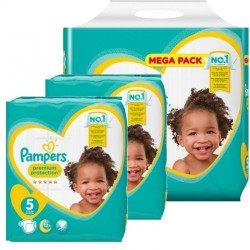 Pampers - Maxi giga pack 300 Couches Premium Protection taille 5