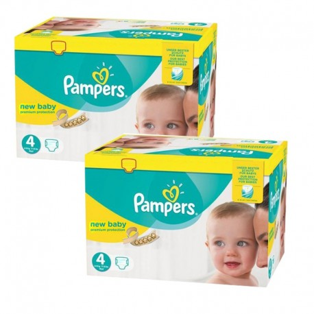 Pampers - Mega pack 168 Couches Premium Protection taille 4 sur Le roi de la couche