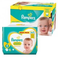 Pampers - Giga pack 288 Couches Premium Protection taille 4