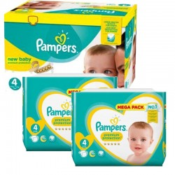 Pampers - Maxi mega pack 408 Couches Premium Protection taille 4