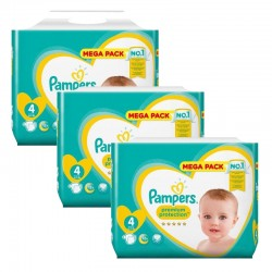 Pampers - Maxi mega pack 456 Couches Premium Protection taille 4