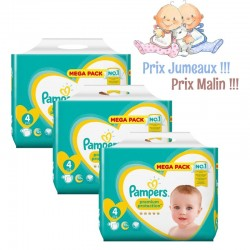 Pampers - Pack jumeaux 528 Couches Premium Protection taille 4
