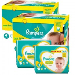 Pampers - Pack jumeaux 552 Couches Premium Protection taille 4
