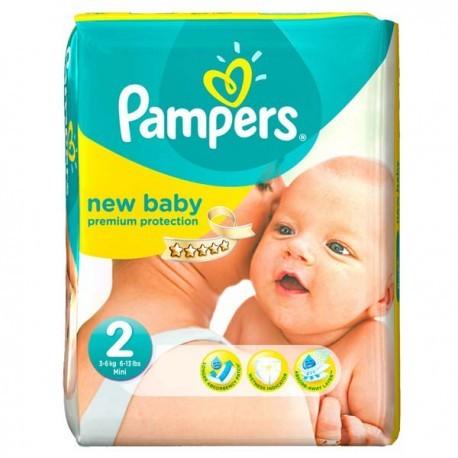 Pampers - Pack 31 Couches Premium Protection taille 2 sur Le roi de la couche