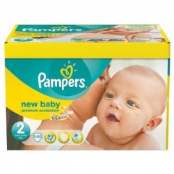 Pampers - Pack 93 Couches Premium Protection taille 2