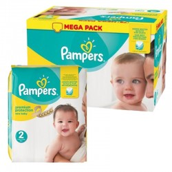 Pampers - Mega pack 124 Couches Premium Protection taille 2