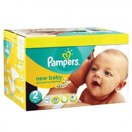 Pampers - Mega pack 186 Couches Premium Protection taille 2 sur Le roi de la couche