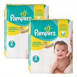 Pampers - Giga pack 248 Couches Premium Protection taille 2