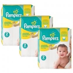 Pampers - Pack jumeaux 527 Couches Premium Protection taille 2 sur Le roi de la couche
