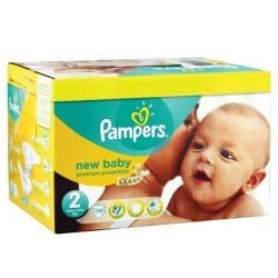 Pampers - Pack jumeaux 589 Couches Premium Protection taille 2 sur Le roi de la couche