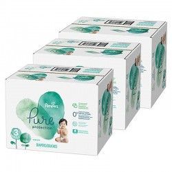 Pampers - Pack 44 Couches Pure Protection taille 3