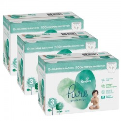 Pampers - Mega pack 198 Couches Pure Protection taille 3