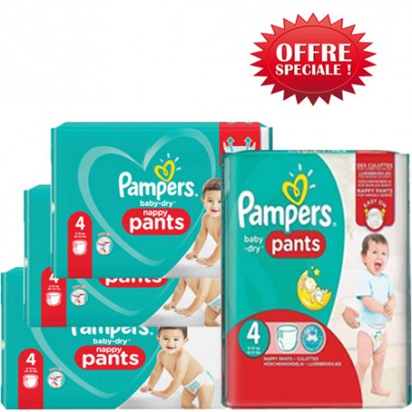 Pampers - Mega pack 180 Couches Baby Dry Pants taille 4 sur Le roi de la couche