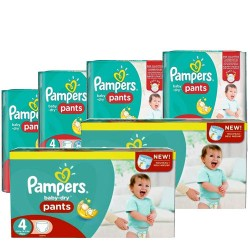 Pampers - Giga pack 270 Couches Baby Dry Pants taille 4