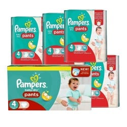 Pampers - Maxi giga pack 330 Couches Baby Dry Pants taille 4