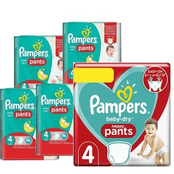 Pampers - Maxi giga pack 390 Couches Baby Dry Pants taille 4