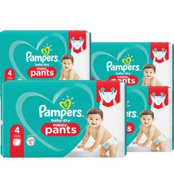 Pampers - Maxi mega pack 450 Couches Baby Dry Pants taille 4