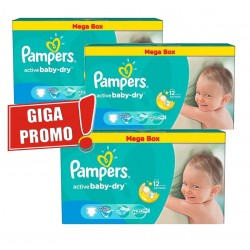 Pampers - Maxi giga pack 374 Couches Active Baby Dry taille 5