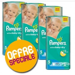 Pampers - Maxi giga pack 396 Couches Active Baby Dry taille 5