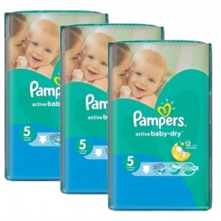 Pampers - Maxi mega pack 418 Couches Active Baby Dry taille 5